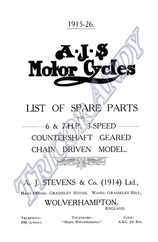 Dunelt Majestic M Model Parts Book